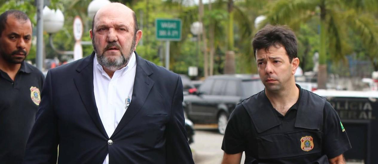 Ricardo Pessoa chega à PF: empresário ainda permanece preso Foto: Marcos Bezerra/Futura Press/Folhapress/14-11-2014