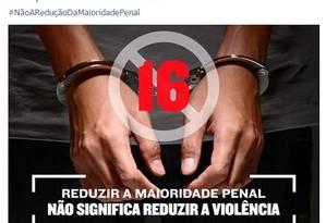 Em post do Facebook, Dilma se posicionou contra a redução da maioridade penal Foto: Reprodução Facebook