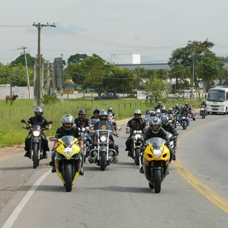 Os motociclistas do Rio poderão ficar isentos de pedágio na e na BR-101 Foto: Divulgação AMO-RJ