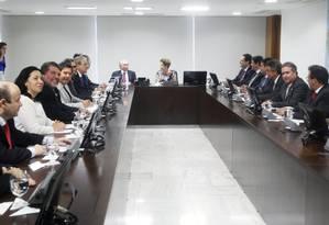 A presidente Dilma Rousseff participa da reunião com a Frente Nacional de Prefeitos e Representantes do III Encontro dos Municípios com o Desenvolvimento Sustentável Foto: Jorge William