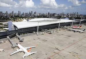 Aeroporto Internacional dos Guararapes, em Recife Foto: Reprodução