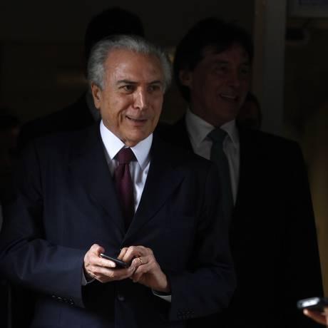 O vice-presidente Michel Temer (PMDB) Foto: Jorge William