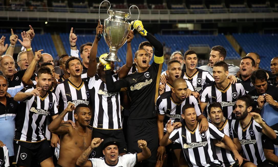 Jogadores do Botafogo conquistaram a Taça Guanabara Cezar Loureiro / Agência O Globo