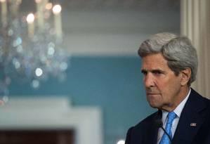 Secretário de Estado dos EUA, John Kerry, alerta para desestabilização da região Foto: NICHOLAS KAMM / AFP