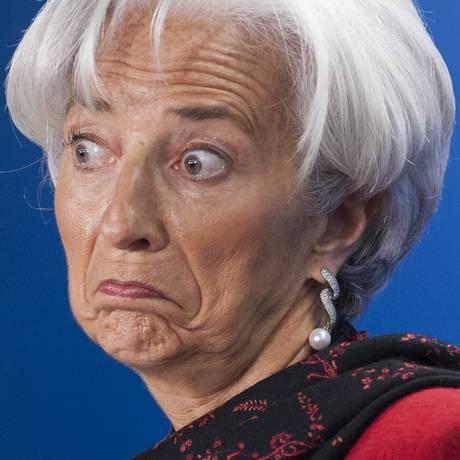 """Christine Lagarde: """"Devemos evitar que o novo medíocre se torne a nova realidade"""" Foto: SAUL LOEB / AFP"""
