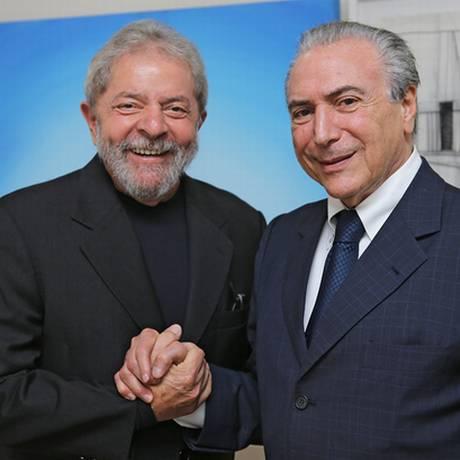 Temer se reúne com Lula em São Paulo Foto: Ricardo Stuckert/Instituto Lula
