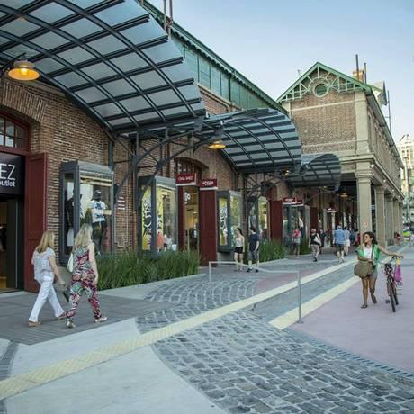 O Distrito Arcos Premium Outlets, novo shopping em Palermo, Buenos Aires Foto: Reprodução