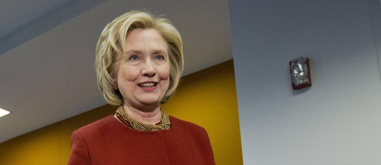 Hillary Clinton é o mais forte nome democrata Foto: Pablo Martinez Monsivais / AP