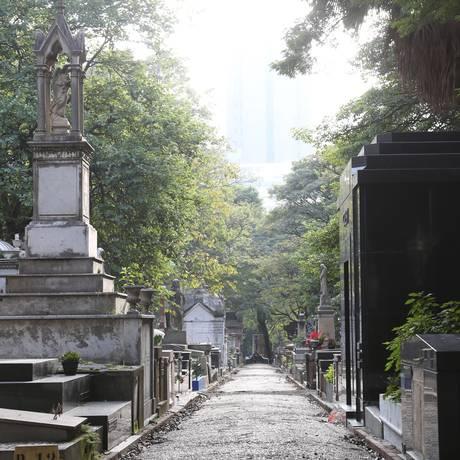 Cemitério da Consolação, onde será realizada a roda de conversa sobre luto, nesta sexta-feira Foto: Marcos Alves / Agência O Globo