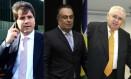 Luiz Argôlo, André Vargas e Pedro Corrêa, presos na Operação Lava-Jato Foto: Montagem