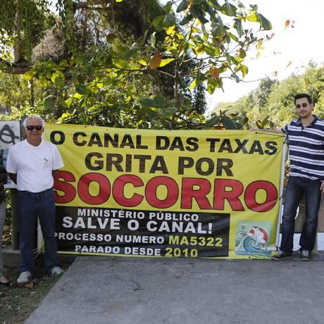 Mobilização pelo Canal das Taxas se itensificou no último ano Foto: Felipe Hanower / Agência O Globo