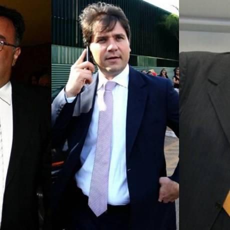 Os ex-deputados André Vargas, Luiz Argôlo e Pedro Corrêa (da esq. p/ dir.) Foto: montagem