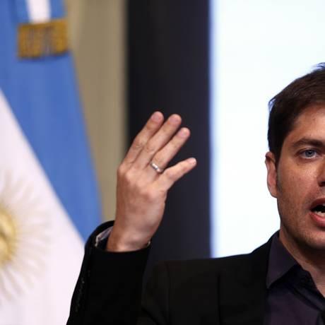 Axel Kicillof, ministro da Economia argentina: fogo atingiu prédio do ministério Foto: MARCOS BRINDICCI / REUTERS