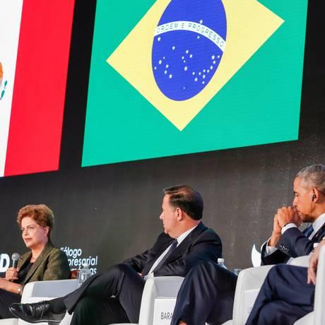 A presidente Dilma Rousseff no Panamá Foto: Roberto Stuckert Filho/Presidência