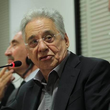 Ex-presidente Fernando Henrique Cardoso afirmou em palestra em São Paulo que o país vive uma crise