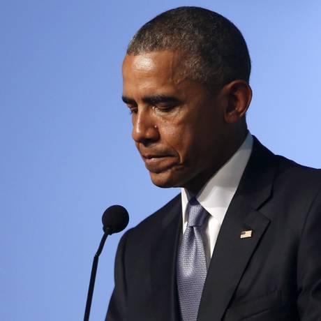 Barack Obama durante discurso no Fórum da Sociedade Civil na Cidade do Panamá. Presidente americano afirmou que Estados Unidos não podem interferir impunemente nos assuntos internos de países da América Latina Foto: JONATHAN ERNST / REUTERS