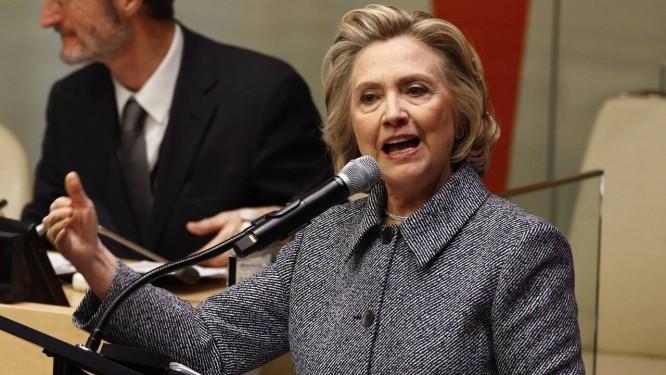 Hillary Clinton durante reunião sobre o empoderamento de mulheres nas Nações Unidas Foto: REUTERS/10-3-2015