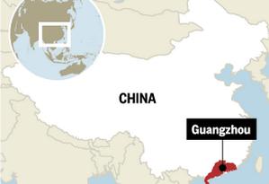 Chineses são aliciados na cidade de Guangzhou, na província de Guangdong Foto: Editoria de Arte