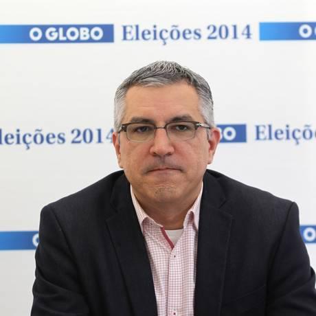 Alexandre Padilha, então candidato do PT ao governo de SP, durante sabatina no