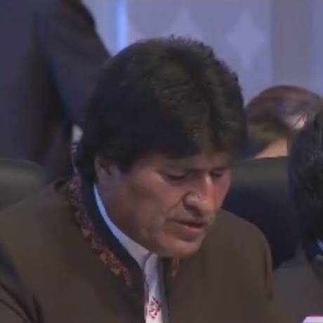 Presidente Evo Morales critica EUA em seu discurso na Cúpula das Américas Foto: Reprodução