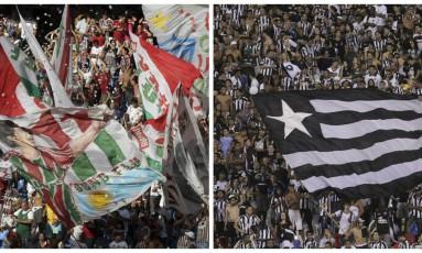 Torcidas de Fluminense e Botafogo em foto de arquivo Foto: Agência O Globo