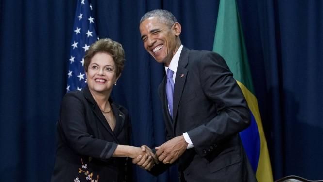 Obama e Dilma: de novo amigos Foto: Pablo Martinez Monsivais / AP