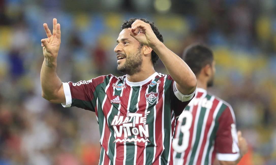 Fred foi o nome do jogo nos 2 a 1 do Flu sobre o Botafogo: dois gols Nina Lima / Agência O Globo