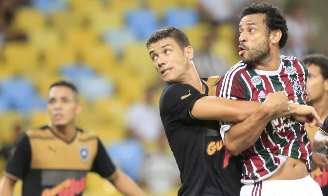 O atacante tricolor Fred já marcou 13 vezes em 18 jogos contra o Botafogo Nina Lima / Agência O Globo
