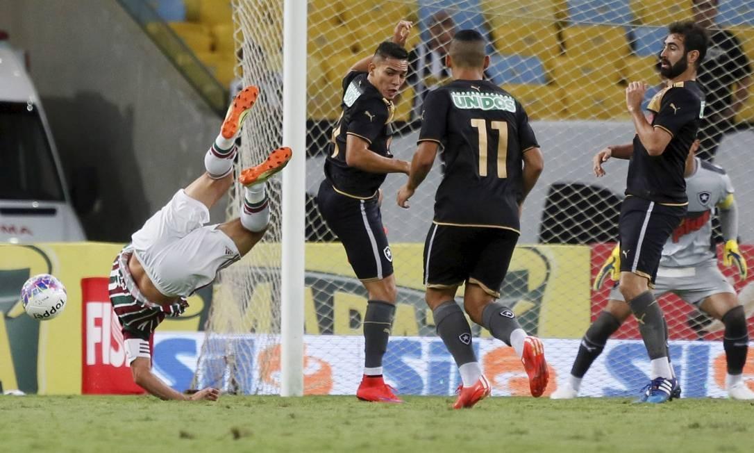 Na segunda partida da semifinal a vantagem do empate será do Fluminense, e não mais do Botafogo Foto: Marcos Tristão / Agência O Globo