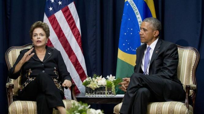 Dilma: episódio de espionagem ficou para trás, mas Obama não elogiou a nova silhueta Foto: Pablo Martinez Monsivais / AP