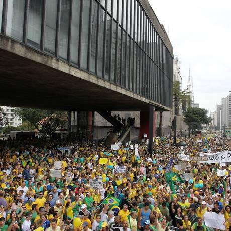 A capital paulista é o grande foco dos que pretendem protestar Foto: Agência O Globo / Michel Filho/15-3-2015