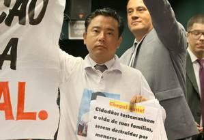 Roberto Sekiya foi a Brasília apoiar proposta porque vê crime crescer Foto: Ailton de Freitas-31-03-2015 / Agência O Globo