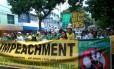 Manifestantes pediram impeachment em Belém