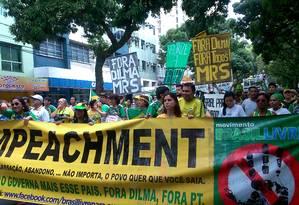 Manifestantes pediram impeachment em Belém Foto: Victor Furtado