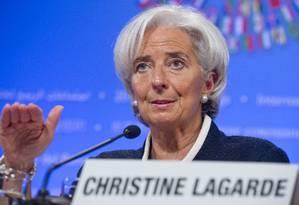 A diretora-gerente do Fundo Monetário Internacional (FMI), Christine Lagardé Foto: SAUL LOEB / AFP