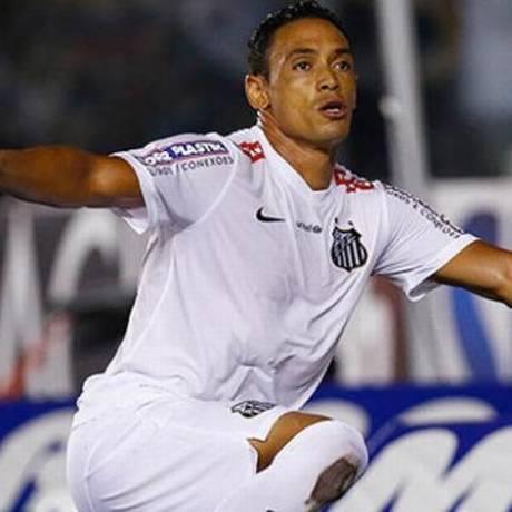 Ricardo Oliveira festeja gol pelo Santos, classificado à semifinal do Paulista Foto: Ricardo Saibun / Santos FC