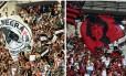 Torcidas de Vasco e Flamengo em foto de arquivo