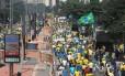Manifestação em São Paulo reuniu 275 mil na Avenida Paulista neste domingo, 12 de abril