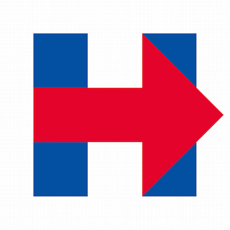 Logo da campanha de Hillary Clinton Foto: Reprodução