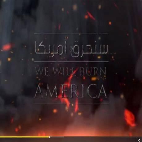 """Em vídeo divulgado pelo Estado Islâmico no dia 10 de março, grupo ameaça americanos com """"segundo 11 de setembro"""" Foto: Reprodução"""