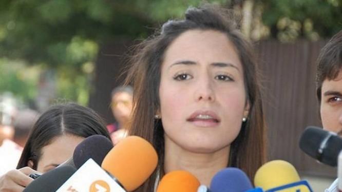 Patricia de Ceballos. Prefeita de San Cristóbal afirmou que agentes do Sebin invadiram prefeitura de forma abusiva e disse não ter nada a esconder Foto: Reprodução/Twitter