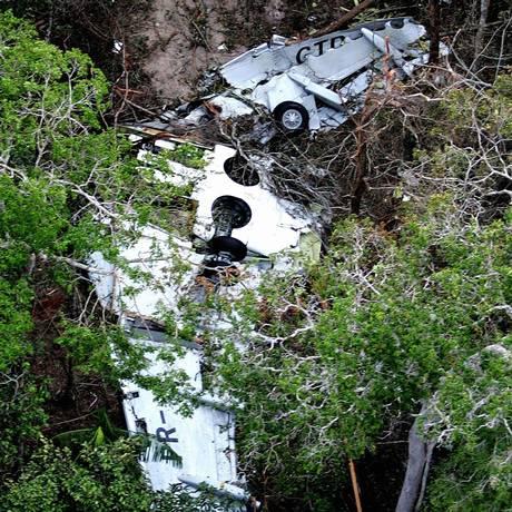Os destroços do avião da Gol, em Mato Grosso Foto: Ailton de Freitas/1-10-2006