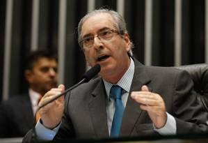 O presidente da Câmara, Eduardo Cunha Foto: André Coelho/9-4-2015