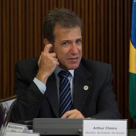 O ministro da Saúde, Arthur Chioro Foto: André Coelho - Arquivo O Globo