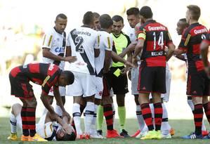 João Batista de Arruda foi o centro das atenções no clássico entre Vasco e Flamengo Foto: Marcelo Sadio / Vasco