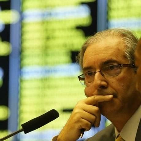 Eduardo Cunha: Os 20% devem prevalecer Foto: O Globo / Ailton de Freitas/8-4-2015