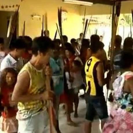 Índios guajajaras exigem melhorias na saúde da comunidade Foto: Reprodução TV Globo