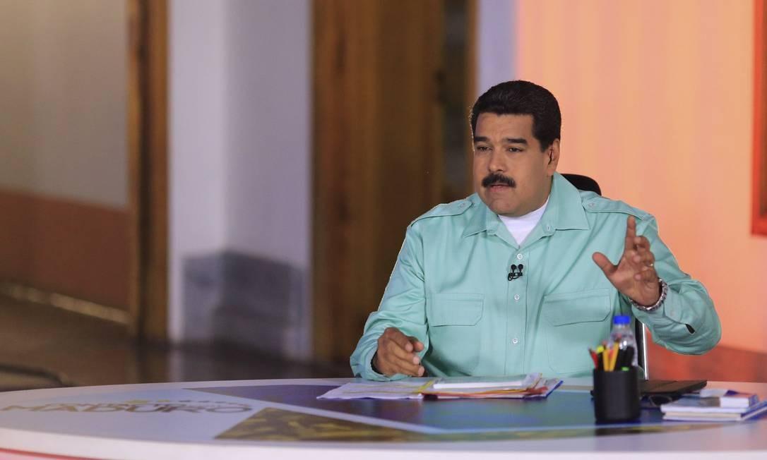 Declarações de Maduro provocaram revolta na Espanha Foto: Miraflores Palace / REUTERS
