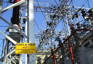 Transformadores e linhas de força da Eletropaulo Foto: Marcos Issa/Bloomberg News