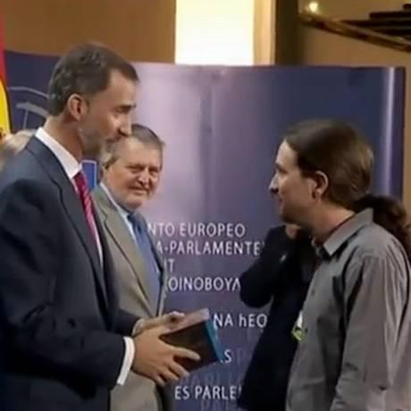 Rei Felipe VI agradece presente inusitado Foto: Reprodução